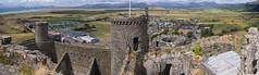 Harlech Panorama (cybertect) Tags: cadw carlzeissdistagont35mmf28mm gwynedd harlech harlechcastle irishsea snowdonia sonya7ii wales castle coast mountain panorama sea tower