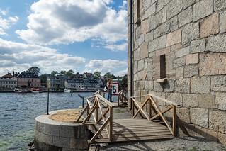Brücke an der Festungsmauer