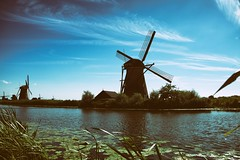 Kinderdijk - Netherlands (DoctorPitt) Tags: paesi bassi olanda holland netherlands kinderdijk mulino vento mill wind fuji summer trip xt2 holiday cielo sky