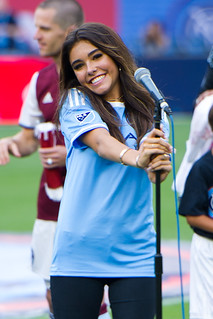 Madison Beer Singing at Soccer Fields