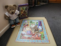 Jest missed the closin' date - by 12 years! (pefkosmad) Tags: jigsaw puzzle leisure hobby pastime pasttimes catconundrum cats secondhand complete sealed competition art painting geofftristram tedricstudmuffin teddy ted bear animal toy cute cuddly plush fluffy soft stuffed