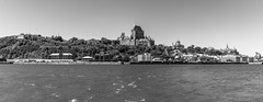 Vieux-Québec 2018-22a (Agirard) Tags: frontenac chateau castel quebec canada stlaurent stlawrence river panorama levis sony a7ii zeiss loxia sky architecture historic quarter vintage bw blackwhite noirblanc nb loxia35