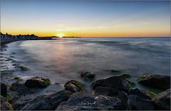Beach (gsegnet) Tags: himmel sky wolken clouds sonne sun sonnenuntergang sunset meer ocean ostsee balticsea steine stones deutschland germany schleswighollstein hohwacht nikon tamron haida