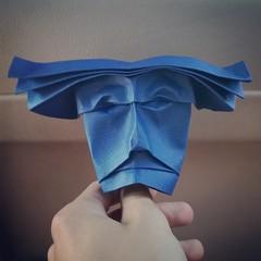 44/365  #DailyImprovisation #ImprovisacionDiaria #Origami #Papiroflexia #Arte #Papel #Mascara #Mask #Idea #OrigamiExperts (Daniel Bermejo Sánchez) Tags: idea mask mascara dailyimprovisation arte papel improvisaciondiaria origamiexperts origami papiroflexia