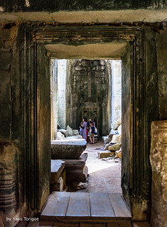 Doorways Aligned through the Ta Prohm Temple, Cambodia-23