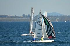 800_4762 (Lox Pix) Tags: queensland qld australia catamaran trimaran hyc humpybongyachtclub winterbash loxpix foilingcatamaran foiling bramblebay sailing race regatta woodypoint boat