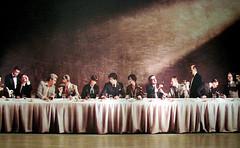 photo - Judgment of Paris, SFMOMA (Jassy-50) Tags: photo sanfrancisco california sanfranciscomuseumofmodernart sfmoma museum artmuseum howwinebecamemodern exhibit judgmentofparis photomural wineblindtasting francevcalifornia wine thelastsupper