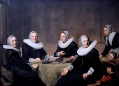 IMG_0110F Johannes Cornelisz Verspronck. 1601-1662. Haarlem.  Lady-governors of the House of the Holy Ghost at Haarlem.  Les Régentes de l'Orphelinat de  la Maison du Saint Esprit  à Haarlem. 1642.  Haarlem. Musée Frans Hals.