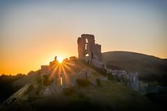 Morning Sunrise Over Corfe Castle (paulinuk99999 (lback to photography at last!)) Tags: paulinuk99999 corfecastle purbeck dorset august sal1540f28g explore