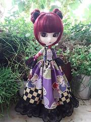Lunatic Queen - violet version (Lunalila1) Tags: doll groove pullip lunatic queen hearts handmade outfit aliceinwonderland costura nunoya taeyang