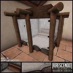 [Kres] Alpine Shower Sauna ([krescendo]) Tags: rld shower sauna kres krescendo secondlife sl