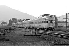 Early Morning Arrival (jamesbelmont) Tags: riograndezephyr drgw passenger streamliner emd provo junction beckmanscurve f9a gp402 f9b silversky