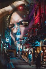 China America (https://tinyurl.com/jsebouvi) Tags: jsebouvi art doubleexposure couleur soir photo artiste exposition lumière néon femme face regard cheveux main top meilleur création décoration nouveau ombre chine usa nuit