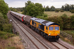 "Class 66 - 66724 ""Drax Power Station"" (The_Anorak) Tags: british rail railways train england unitedkingdom uk greatbritain gb claymills stretton burtonontrent burtonupontrent staffordshire 17th august 2018 diesel locomotive class66 shed generalmotors gm electromotivediesel emd type5 railfreight freight class20 chopper englishelectric type1 englishelectric8svtmkii gbrf gbrailfreight harryneedlerailroadcompany hnrc 66724 20132 20311 7x08 breadsall banbury westruislip londonunderground lu lul tube transportforlondon tfl stock move movement"