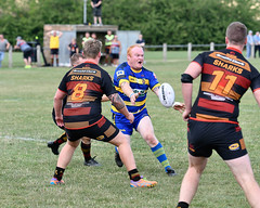 Forward pass (Steve Barowik) Tags: yorkshire westyorkshire nikond500 barowik leeds ls26 stevebarowik sbofls26 rugbyleague rl nationalleague 70200mmf28gvrii sport competition try conversion penalty sinbin referee linesman ball pitch sticks posts team watercarrier dx cropframe kick pass offload dropkick forwardpass centre wing prop forward back fullback unlimitedphotos wonderfulworld quantumentanglement oultonraiders shawcrosssharks nationalconferencedivisionone