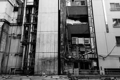Ginza behind the scenes-3 (tokyobogue) Tags: tokyo japan ginza nikon nikond7100 d7100 sigma sigma1750mmexdcoshsm behind backstreets street streetphotography urban city blackandwhite blackwhite monochrome construction
