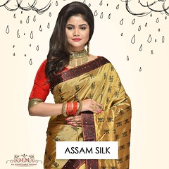 Assam silk (Adi Mohini Mohan Saree) Tags: saree silk online shopping collection