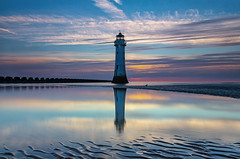 Day 1 (gmorriswk) Tags: formatthitechfirecrest wallasey england unitedkingdom gb seascape landscape lighthouse sunset reflections reflection fort perch rock new brighton