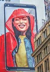 smile (albyn.davis) Tags: colors bright vivid vibrant red billboard nyc newyorkcity city urban smile signage
