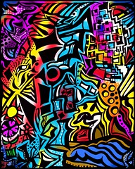 Swan_Beach_01a (photoshopflair) Tags: art design illustration abstract abstractionism abstraction colorful