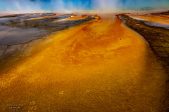 Moving Art (mariola aga) Tags: wyoming yellowstonenationalpark midwaygeyserbasin grandprismaticspring spring microbialmat steam closeup abstract wideangle nature landscape coth fantasticnature coth5
