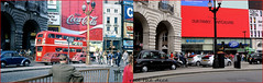 Piccadilly`1974-2018 (roll the dice) Tags: london westminster w1 old westend regentstreet oldandnew pastandpresent hereandnow streetfurniture architecture sad mad changes collection england urban uk art classic canon tourism tourists lights traffic taxi cab travel transport bus beetle local history retro bygone seventies vanished cocacola illuminated advertising landsec barclays boots polo windows skol fashion people shops shopping samsung