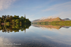 Edge Of Paradise (jeanette_lea) Tags: landscape united kingdom derwentwater derwent isle isthmus bay catbells sunrise dawn sky clouds trees reflections stones fells water