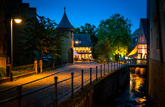 After Hours (dlerps) Tags: daniellerps lerps sigma sony sonyalpha sonyalpha77 sonyalphaa77 lerpsphotography abzucht river stream creek longexposure tower bannister evening night lights light twilight civiltwilight bluehour reflection goslar deutschland de germany northerngermany harz lowersaxony oldtown unesco