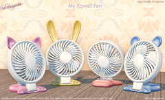 [La Baguette] My Kawaii Fan @ The Chapter 4 (Aristas.Resident) Tags: fan kawaii bunny kitty desk mini cute
