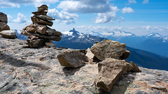 Top of the World Summit (Sworldguy) Tags: whistler blacktusk rocks formation volcanic canadiancascades mountains britishcolumbia whistlermountain canada tourism landscape hiking sonya73 summer clouds jagged