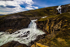 Island Nord2018_429 (schulzharri) Tags: island nord north europe europa landscape landschaft travel reise rock fels wasser water waterfall wasserfall