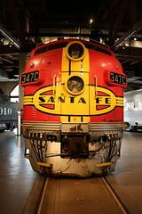 Atchison, Topeka & Santa Fe 347C Diesel Engine (Ray Cunningham) Tags: atchison topekasantafe347cdiesellocomotivegmsacramentocalifornia