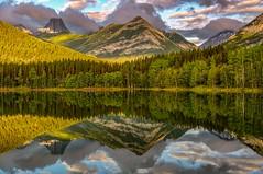 Wedge Pond Reflections (Cole Chase Photography) Tags: kananaskiscountry canada alberta lake pond canadianrockies reflection sunrise colors