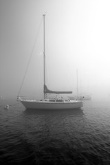Ghost Boat (Toffographer 974) Tags: boat haze monochrome water blacknwhite mood spook bright contrasts