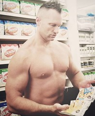 protein cookies (ddman_70) Tags: shirtless pecs abs muscle shopping store proteincookie