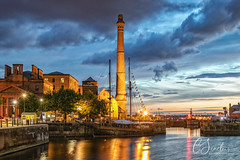 Albert Dock - Liverpool (Explored) (C Sinclair) Tags: bluehour liverpool albertdock merseyside pumphouse harbour