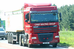 DAF XF Tipper Crisp Malting Group AU11 AOZ (SR Photos Torksey) Tags: transport truck haulage hgv lorry lgv logistics road commercial vehicle freight traffic daf xf crisp malting group