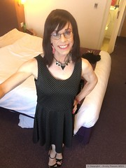 July 2018 - Sparkle weekend in Manchester (Girly Emily) Tags: crossdresser cd tv tvchix tranny trans transvestite transsexual tgirl tgirls convincing feminine girly cute pretty sexy transgender boytogirl mtf maletofemale xdresser gurl glasses dress premierinn manchester sparkle stilettos highheels