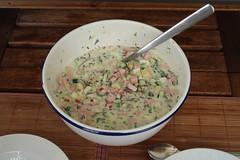 Okroschka (ganze Schüssel) (multipel_bleiben) Tags: essen eintopf sommer gemüse eier kartoffeln wurst kalteküche