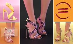 EQUAL - Joy Sandals (EQUAL SL) Tags: secondlife shoes slink maitreya belleza tres chic heels