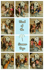 Mood of the Summer Days - collage (Mary (Mária)) Tags: barbie mattel summer doll toys barbiebasic style outfit indoor diorama scene dollphotography navy nautical sea mood sand beach fashion poppyparker integritytoys handmade marykorcek model collage days holiday