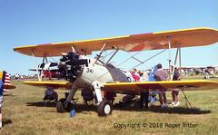 CM60: Boeing A75N1 Stearman N341AA (rritter78) Tags: boeing a75n1 stearman biplane trainer