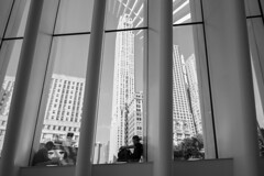 Pensive (askhb55) Tags: 7100 d7100 nikon theoculus oculus manhattan lower lowermanhattan thought pensive reflection blackandwhite nyc ny newyorkcity newyork new york city financial district 911 memorial onewtc world trade center worldtradecenter man oneworldtradecenter