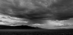 Verga In Monitor Valley (Jordan T Baker) Tags: clouds verga nevada landscape desert monitorvalley blackandwhite mastinlabs ilford panf motocamping fineart