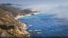 A Summer Day Along the Pacific Coastline (allentimothy1947) Tags: bigsur coastalhighway monetereycounty breakers cliffs fog grass grazing hwy1 land landwater landscape ocean pacificocean reopened rocks sea shore sky trail tree waves