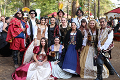 Renaissance Spanish Family (wyojones) Tags: texas toddmission texasrenaissancefestival trf renaissance renfest faire festival fest brunette beauty pretty cute beautiful lovely woman girl dress gown sunglasses man boy conquistors soldiers smile family spanish sword cup