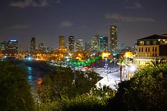 Jaffa by night. Spectacular view from Abrasha Park (Andrey Sulitskiy) Tags: israel jaffa telaviv