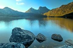 Cradle Mountain and Dove Lake (Caleb McElrea) Tags: cradlemountain cradlemountainlakestclairnationalpark southwestwildernessworldheritagearea unesco tasmania australia dovelake sunrise morningmist reflection