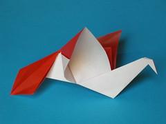 Flapping dove (Mélisande*) Tags: mélisande origami flappingbird dove