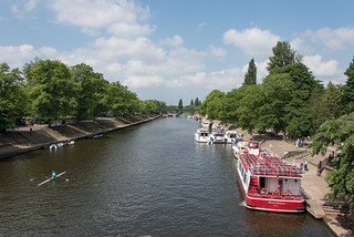 A view down The Ouse from Lendal Bridge at York